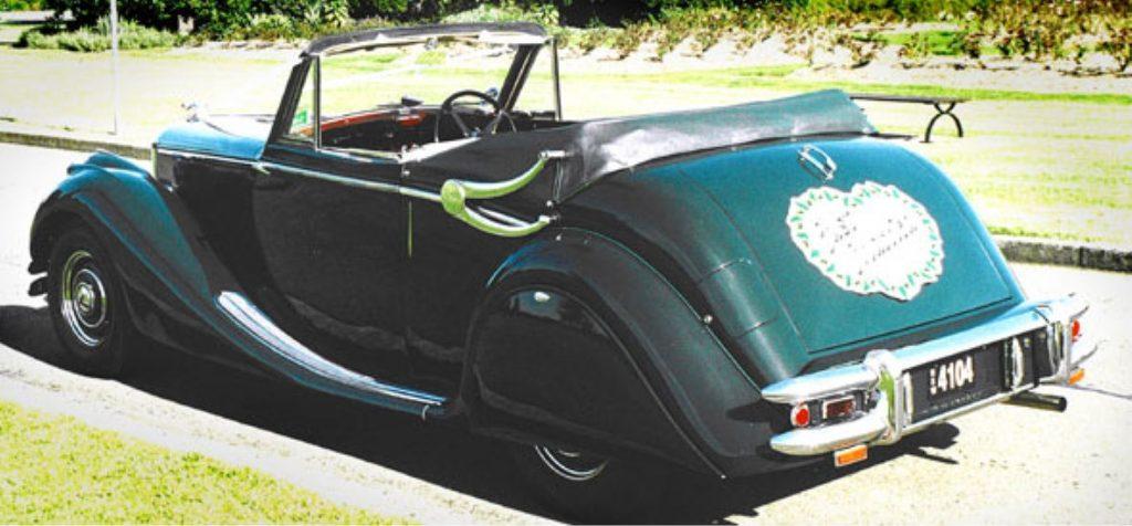 JAGUAR 1951 MK V CONVERTIBLE BRITISH RACING GREEN REG, 4104